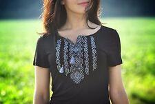 Ukrainian embroidered sorochka, t-shirt, blouse vyshyvanka, embroidery, Size L