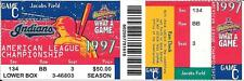 1997 AL CHAMPIONSHIP SERIES-GAME C-3 FULL TICKETS IN A ROW