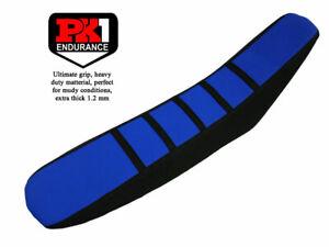 PK1 SEAT COVER TM MX/EN 125-250-450-530 YEAR 98-02 BLUE/BLACK WITH BLUE STRIPES