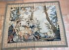 French Handwoven Aubusson Tapestry 19th Century Rug 60 X 75 Inches