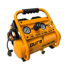 DuraTwist 1-Gallon 0.5 HP Ultra-Quiet Portable Oil-Free Electric Air Compressor