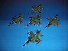 Micro Machines Military Lot F-16 Fighting Falcon X5 Cobra Aircraft Plane Jet