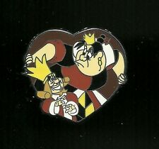 Queen of Hearts and Knave Heart from Alice in Wonderland Splendid Disney Pin