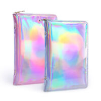 NICOLE DIARY Nail Art Stamping Plate Holder Case Holographic PU Organizer Silver