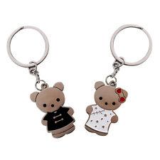 1 Pair Lovely Key Ring Chain Keychain Couple Lover Black+White