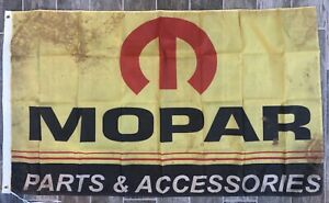 Mopar Banner 3x5 Ft Racing Flag Garage Shop Wall Decor Chrysler Dodge Ram Jeep