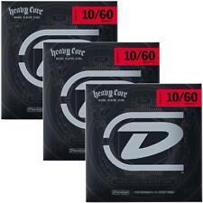 3 Sets Dunlop Heavy Core 7-String NPS Electric Guitar Strings, Heavy 7 (10-60)