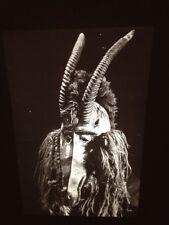 "Bobo African Tribal Art ""Waterbuck Antelope Mask"" 35mm Vintage Glass Slide"