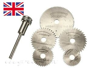Dremel accessories- SILVER 5Pcs HSS Circular Saw Rotary Blades Hobby Rotary Tool