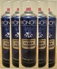 (1x CAN) Clear Laquer Spray Acrylic Top Coat for Plastic Steel Wood Metal 500ml