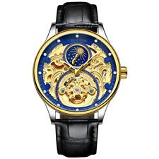 Best New Tourbillon Automatic Mechanical Waterproof Watch  Leather Men's Watch