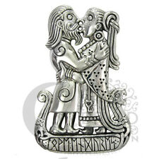 Dryad Designs Silver Viking Kiss Pendant Norse  Asatru by Paul Borda