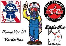 Ronnie Mac Hoja Pegatina A5 (148mm X 210mm) x6 Motocross Mgmx Pegatinas De Vinilo