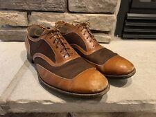 Vintage 1940's FRENCH SHRINER & URNER SPECTATOR Leather Mesh Oxfords Shoes Sz 11