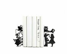 Atelier Article - Gift Steel bookends - Alice in Wonderland (Black)