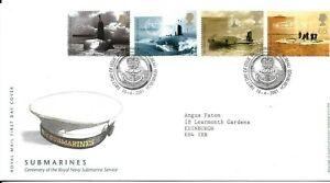 GB 2001 Submarines FDC