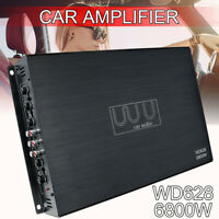 6800W DC 12V Car Power Amplifier 4CH Truck Audio Stereo Subwoofer Bass Class AB