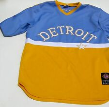 Detroit Stars Baseball Mens XL Jersey Negro League Michigan Replica Yellow Blue