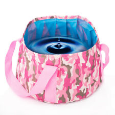 Portable Folding Washbasin Outdoor Camping Fishing Basin Washbowl Bucket Bag 15L