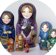 Russian matryoshka doll nesting babushka beauty berries handmade exclusive