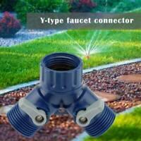 "Garden Two Way Hose 3/4"" Tap Adaptor Double Connector Fits Hozelock Y Type UK"