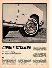 1964 MERCURY COMET CYCLONE 289/210 HP ~ ORIGINAL 3-PAGE ROAD TEST / ARTICLE / AD