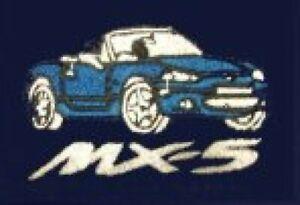 Mazda MX5 Embroidered Personalised Polo Shirt Free P&P UK Stock