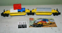 Lego Eisenbahn 10170 TTX Intermodal Double-Stack Car Train 100% komplett OBA