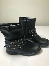 Mudd Studded Black Boots Girl's Size 3 NEW