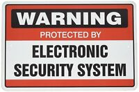 Warning Protected by Electronic Security System Metal Aluminum Novelty Sign 8X12