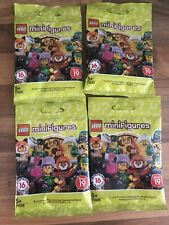 X4 Lego MiniFigures series 19 (71025) Bundle New Sealed Blind Bags Packs