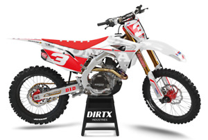 NEW DIRTX INDUSTRIES HONDA WINGS GRAY COMPLETE GRAPHICS CR CRF 125 150 250 450