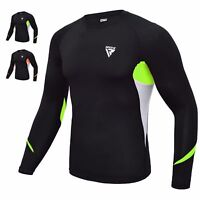 RDX MMA T-Shirt Lunga Neoprene Rashguard Baselayer Felpa Compressione Maglia