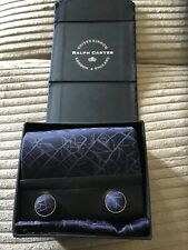Ralph Carter UK Ties. Brand New gift boxed tie, square pocket and cuff links