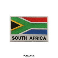 South Africa National Flag Embroidered Patch Iron on Sew On Badge For Clothe etc