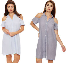 Cotton Collared Casual Shirt Dresses