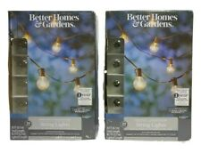 Better Homes & Gardens 18.7 feet 20 count G40 Clear Glass Globe - 2 Count