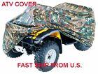 Camouflage Camo ATV 4 Wheeler Storage Cover Fits For Polaris Sportsman 500 600