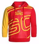 AFL Gold Coast Suns Kids Youth Supporter Pullover Hoodie Hoody, sizes 12 14