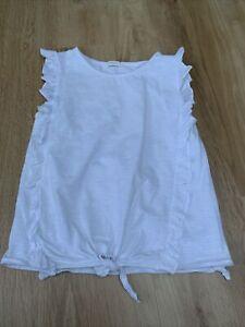 Next Girls White Sleeveless Tshirt 9 Years
