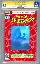 WEB OF SPIDER-MAN #90 CGC-SS 9.6 HOLOGRAPHIC 30TH ANNIV COVER ALEX SAVIUK 1992