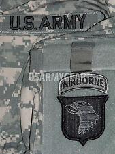 New 101st Airborne Division ACU Patch Set+ US.Army Tab-Uniform Shirt Jacket M 65