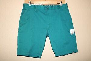 "NEW NWT MATIX Mens 34"" waist teal shorts Combine ship Discount"