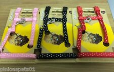 Polka Dot Harness & Lead for Rabbits Small Pink