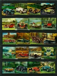 BHUTAN 1971,  Cars , FULL SET,   PLASTIC , 3D,  unusual