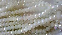 Joblot of 10 strings white solid AB 6mm round shape Crystal beads new wholesale