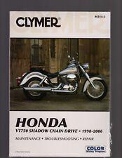 Honda VT750 Shadow Chain Drive 1998-2006 Maintenance& Repair Manual