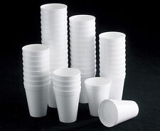 7oz 10oz 12oz WHITE FOAM / POLYSTYRENE HOT TEA DISPOSABLE CUP GLASS PARTY CUPS
