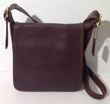 Vintage Coach Brown Leather Studio Legacy Flap Crossbody Purse 9144