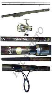 kit canna + mulinello + fodero mimetici pesca carpfishing carp fishing combo